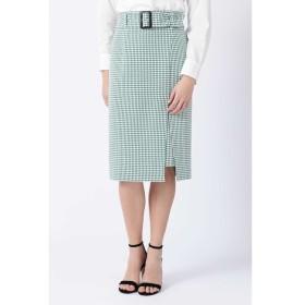 【ピンキーアンドダイアン/PINKY&DIANNE】 ◆ギンガムストレッチラップレイヤードスカート