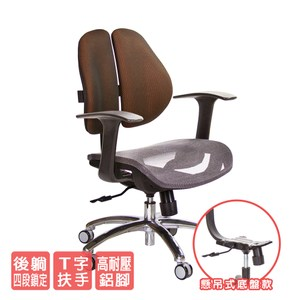 GXG 低雙背網座 電腦椅 (鋁腳/T字扶手)  TW-2803 LU訂購後備註顏色