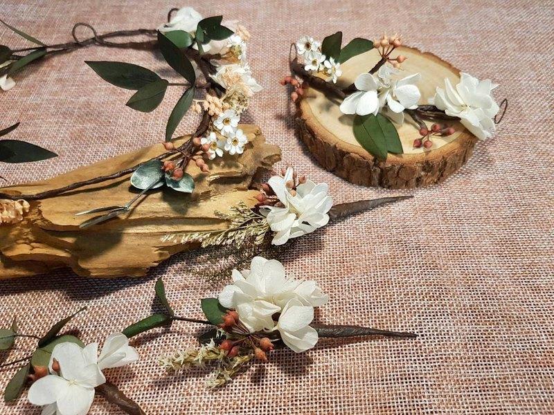 乾燥花飾品【月桂女神2.0】花飾 新秘飾品 乾燥花髮飾 新娘髮飾