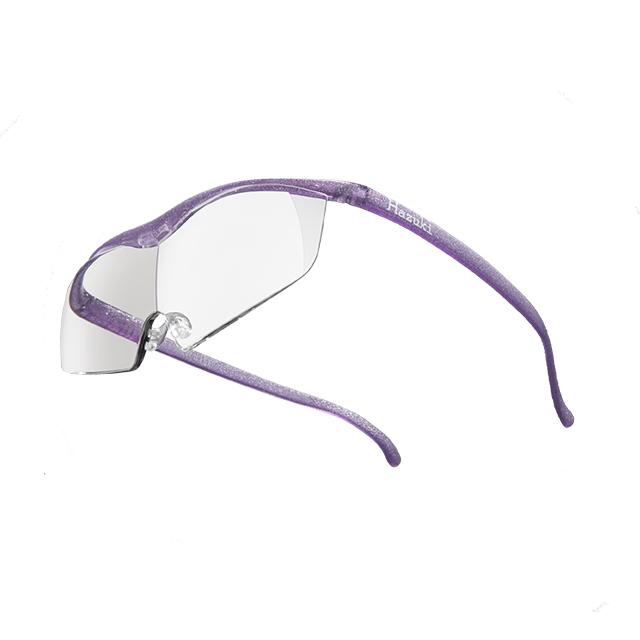 【Hazuki】日本Hazuki葉月透明眼鏡式放大鏡1.85倍大鏡片(亮紫)