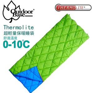 【Outdoorbase】上下可分離美國Thermolite化纖睡袋(Invista英威達