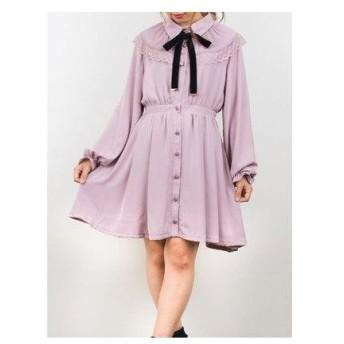 ロジータ ROJITA プリーツケープシャツカラーワンピース (ピンク)