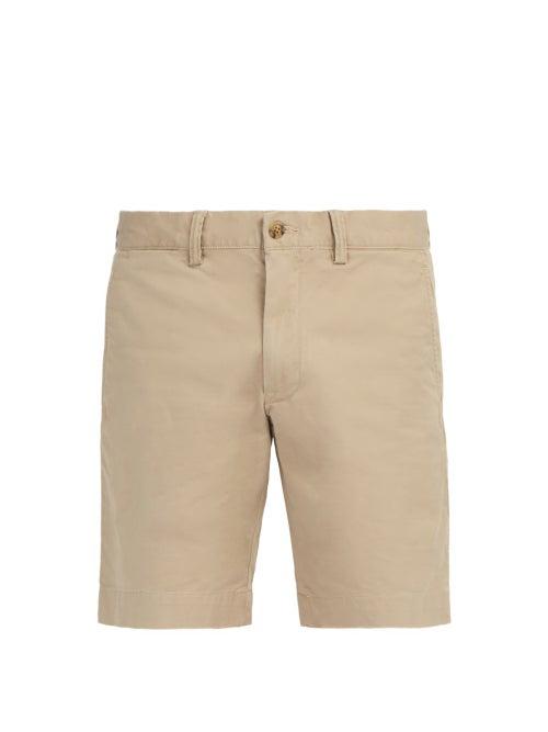 Polo Ralph Lauren - Logo Cotton-blend Chino Shorts - Mens - Beige