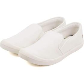 [セレブル] (アーノルドパーマー) Arnold Palmer スリッポン レディース キャンバス 履きやすい 通気性 サイドゴア ホワイト 23.5cm