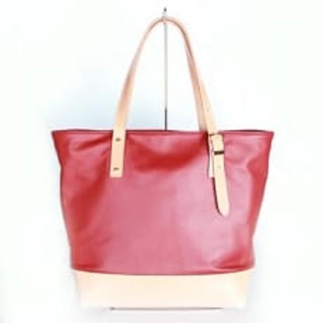 やわらかレザーのトートバッグ(赤系) YZ01