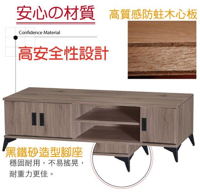 【綠家居】菲迪 現代風5尺木紋三門電視櫃/視聽櫃