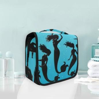 マーメイドスピリットフィッシュぶら下げ折りたたみトイレタリー化粧品化粧バッグ旅行キットオーガナイザー収納ウォッシュバッグケース用女性女の子浴室