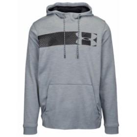 アンダーアーマー Under Armour メンズ フィットネス・トレーニング パーカー トップス Armour Fleece Graphic Logo P/O Hoodie Steel Bl