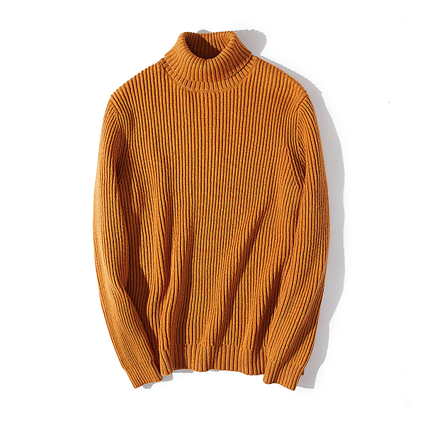高領針織衫-修身條紋純色休閒男毛衣6色73wl18【時尚巴黎】