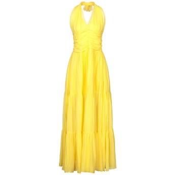 《セール開催中》EUROPEAN CULTURE レディース ロングワンピース&ドレス イエロー XS コットン 99% / ポリウレタン 1%