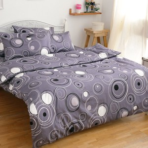 宜雅 eyah 205織紗精梳棉雙人床包組 幾何星球