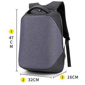 BAJIMI バックパック カメラバッグ 大容量 耐久性に優れたバックパック男性防水ステレオ・デジタル・ストレージ・コンピュータバックパックは、充電ポートUSBと旅行アンチセフトスリムコンピュータバックパックは、男性/女性のための防水大型・カレッジスクールバッグラップトップに適合します おしゃれ 収納 旅行 (色 : N blue simple)