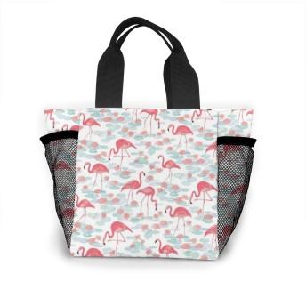 フラミンゴを歩く トートバッグ 買い物バッグ レディース おしゃれ バッグ ハンドバッグ エコバッグ 人気 ランチバッグ