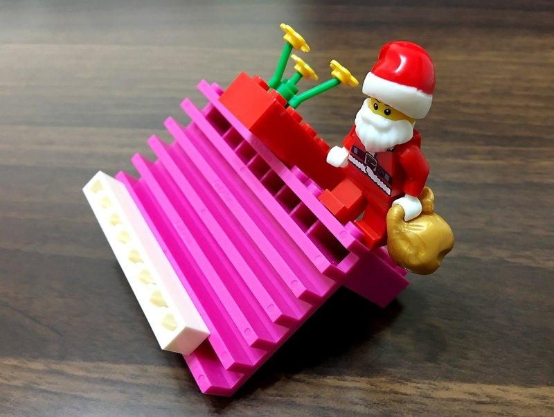 聖誕風 積木手機架 六段角度調整 相容樂高LEGO積木