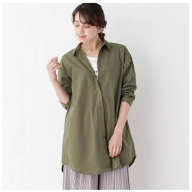 【シューラルー/SHOO・LA・RUE】 【2点セット】ロングシャツ+ロゴTシャツ
