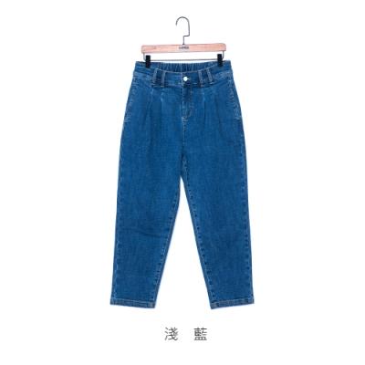 gozo 趣味LOGO休閒九分哈倫褲(二色)
