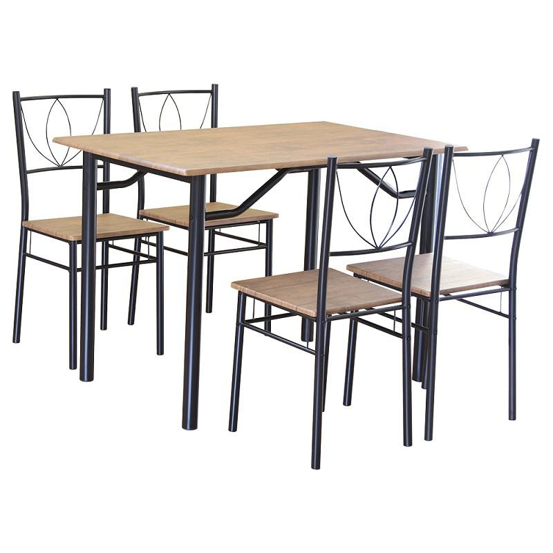 RICHOME DS063 RICHOME雅緻餐桌椅組(一桌四椅) 餐桌椅組 餐桌 小餐桌 一桌四椅 早餐店