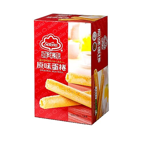 喜年來原味蛋捲經濟包(盒)192g【康鄰超市】