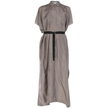 《セール開催中》KARL LAGERFELD レディース ロングワンピース&ドレス 鉛色 S/M シルク 100%