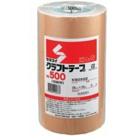 クラフトテープ 38mm×50m 6巻 セキスイ NO.500