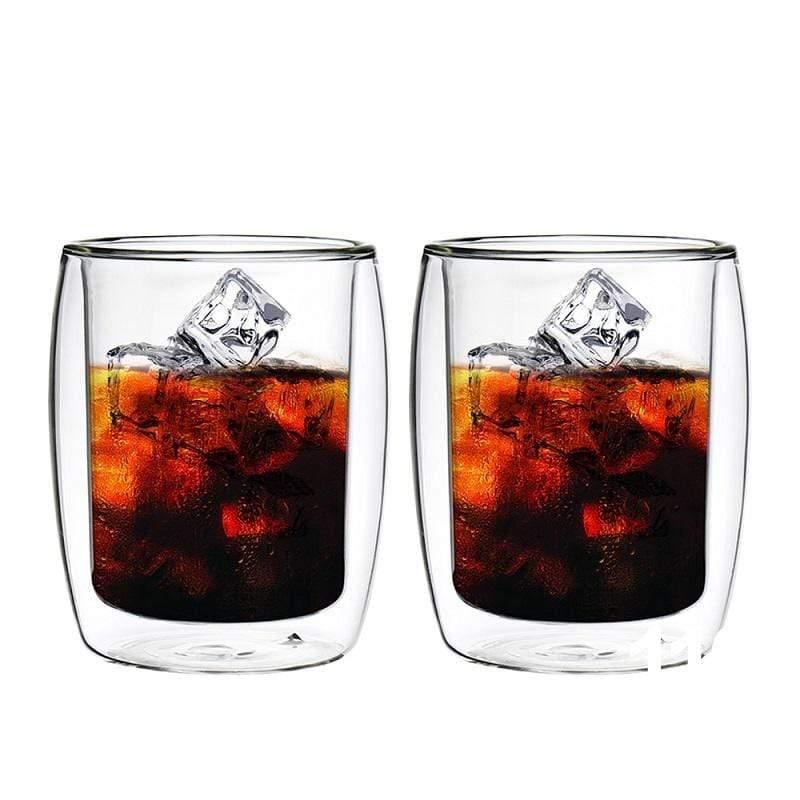 英倫系列雙層耐熱玻璃杯260ML*2入