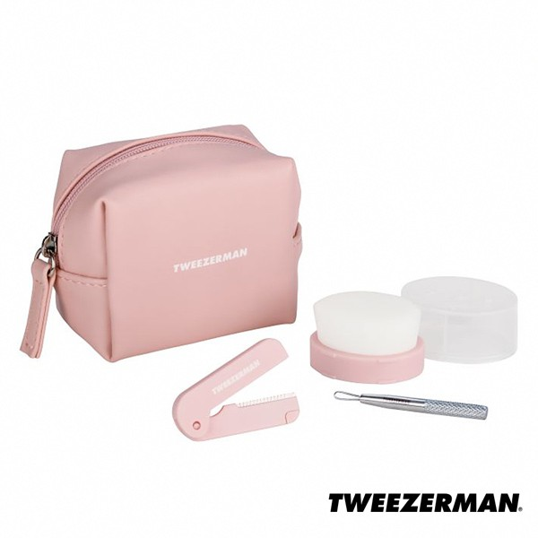 Tweezerman 護膚修容旅行工具組 公司貨 雙人牌 德國工藝 潔顏刷 洗臉刷 粉刺棒 剃刀 - WBK SHOP