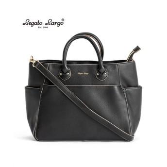 Legato Largo(レガートラルゴ)フェイクレザー10ポケット2WAYトートバッグ(A4対応) トートバッグ・手提げバッグ, Bags