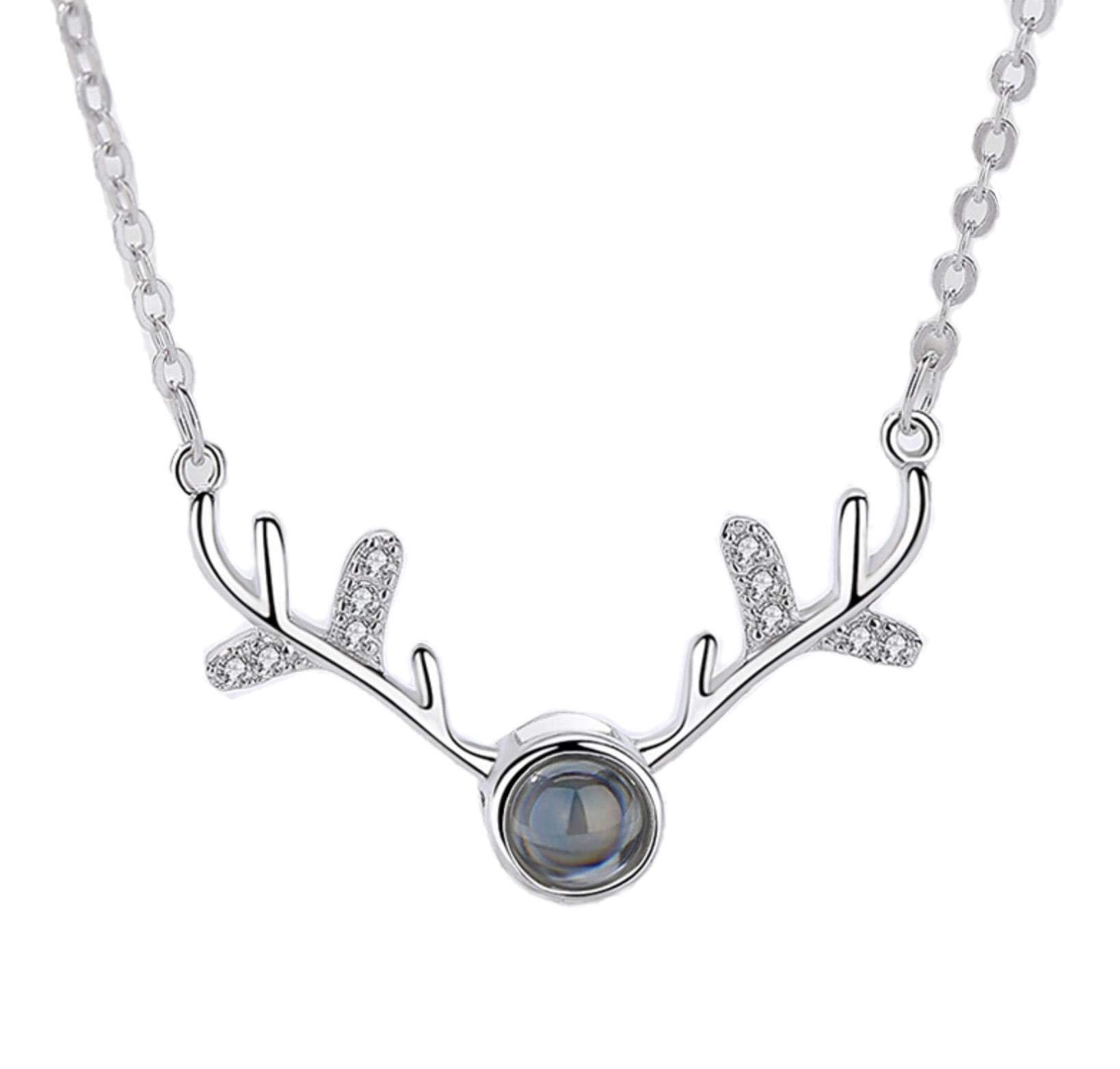 925 Sterling Silver Pendant CZ White Crystal Pendants Richy-Glory
