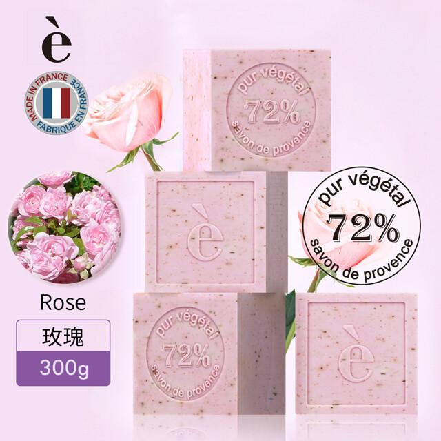 法國e普羅旺斯花瓣精油植物皂/馬賽皂(玫瑰) 300g