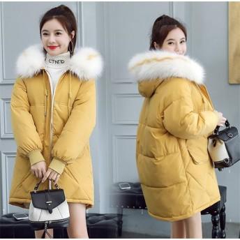 華やかな印象に 通勤する ダウンコート 中・長セクション 高品質 2019年新作 冬 コート 学生 ゆったりする コート