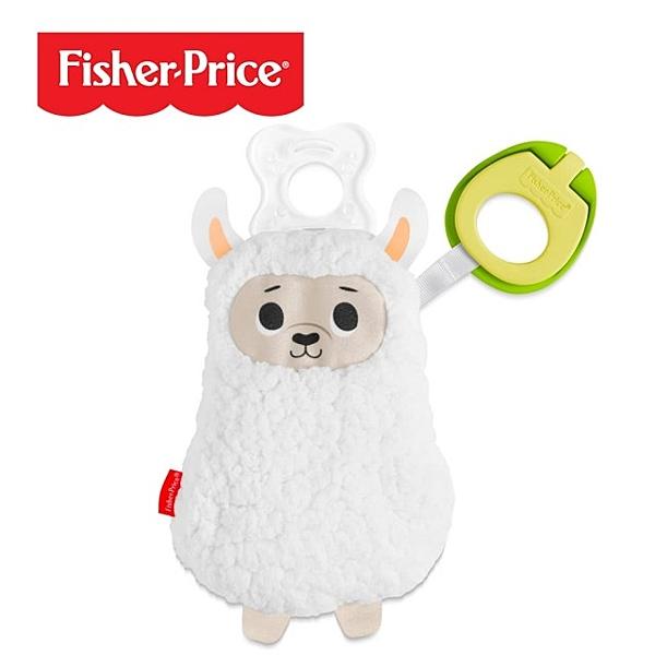 【愛吾兒】費雪 Fisher Price 奶嘴掛鍊安撫娃娃-羊駝