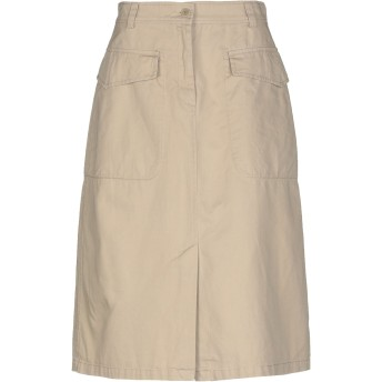 《セール開催中》ASPESI レディース 7分丈スカート サンド 42 コットン 100%
