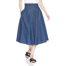 [ウィゴー] スカート デニム前ボタンタックミディスカート レディース BS18SM04-L010 デニム中濃色 日本 L (日本サイズL相当)