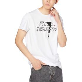 (ディーゼル) DIESEL メンズ Tシャツ グラフィック プリント 00SDNX0091A 3XL ホワイト 100