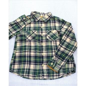 ブランシェス BRANSHES 長袖シャツ 140cm 緑/紺/白系 トップス キッズ ジュニア 男の子 子供服 通販 買い取り