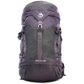 MEIDELE 登山バックパック防水と耐久性のあるワイルドキャンプ旅行の屋外使用ハイキングバックパックに適しレジャースポーツニュートラル男性と女性の多機能肩を歩いて (色 : グレー)