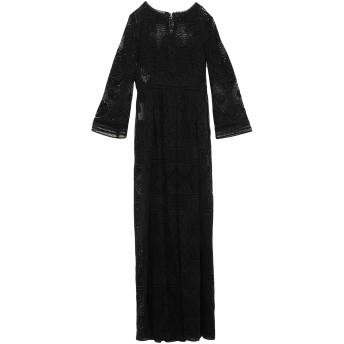 《セール開催中》ALBERTA FERRETTI レディース ロングワンピース&ドレス ブラック 38 コットン 80% / ナイロン 20%