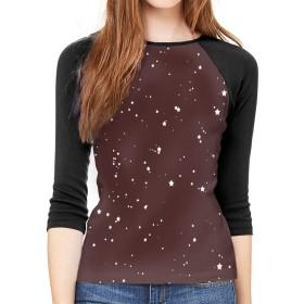 スターダスト粒子女性用ブラウス半袖プリントTシャツ女性のための快適なカジュアルトップス