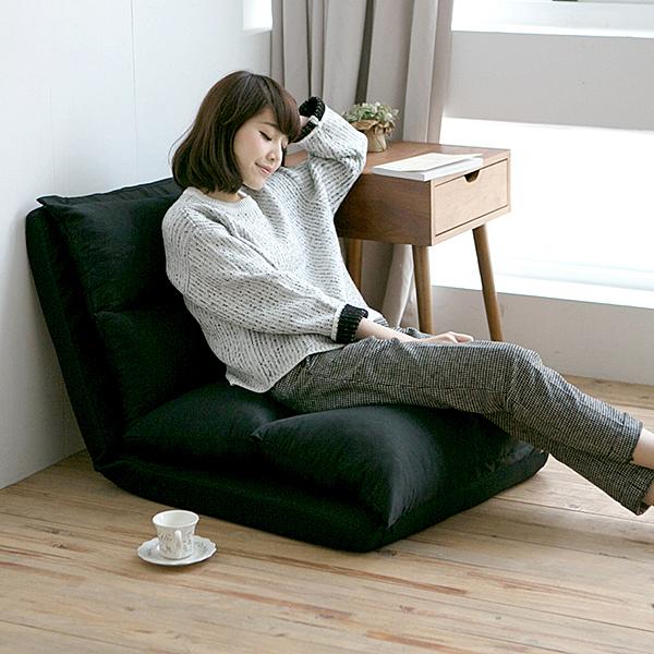 沙發床 和室椅 折疊椅【M0005】多功能五段式加長和室椅(黑色) MIT台灣製 收納專科ac