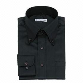 黒ワイシャツ 長袖 黒シャツ 形態安定 メンズ 1枚 NB03 スリム&ゆったり 5Lサイズ