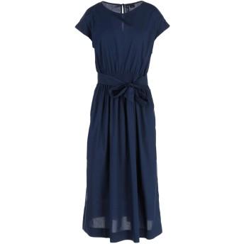 《セール開催中》WOOLRICH レディース 7分丈ワンピース・ドレス ブルー XL コットン 100%