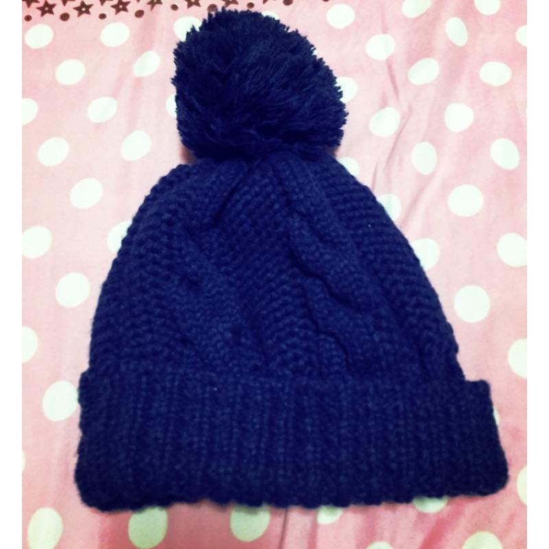 毛帽 寶藍色