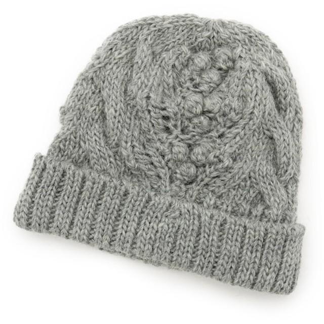 【ハッシュアッシュ/HusHusH】 ポコポコアラン編みニット帽