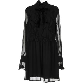 《セール開催中》TWINSET レディース ミニワンピース&ドレス ブラック 42 レーヨン 100%