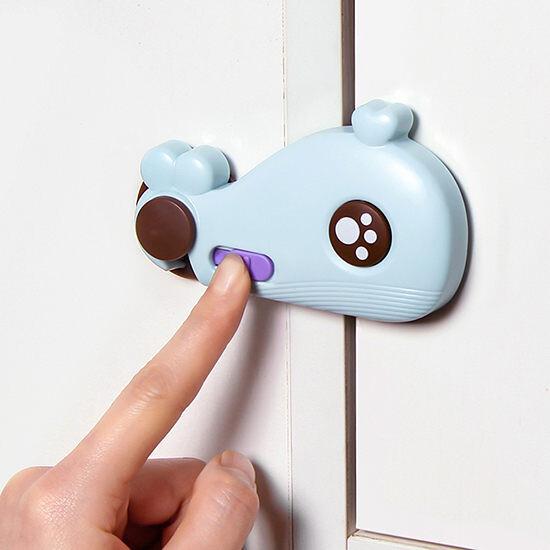 櫥櫃門安全鎖 多功能防夾手安全鎖 嬰兒防護用品 抽屜安全扣 多功能寶寶防夾手