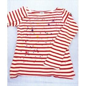 ブリーズ BREEZE 長袖Tシャツ ロンT 140cm 白/赤系 トップス ボーダー キッズ ジュニア 女の子 子供服 通販 買い取り