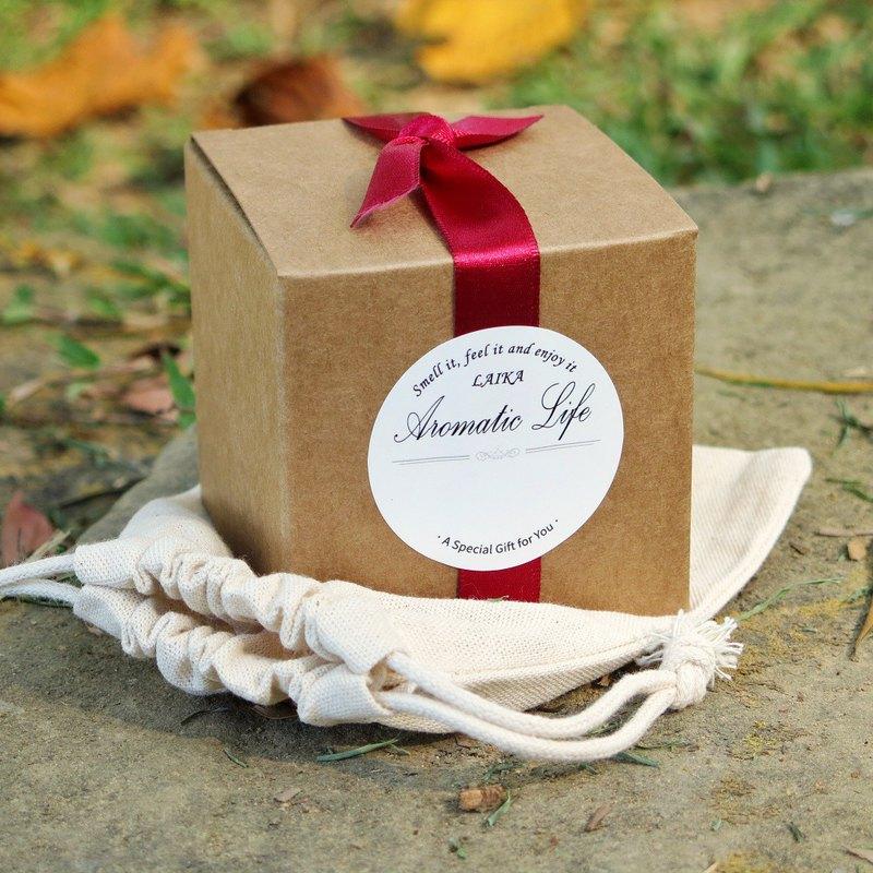 加購 - 蠟燭材料包專屬 禮物紙盒 附緞帶 貼紙