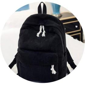 10代の女の子の学校のリュックサック旅行ショルダーバッグ、ブラックの女性のバックパック
