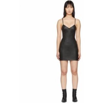 アレキサンダー ワン Alexander Wang レディース ワンピース ワンピース・ドレス Black Leather Stretch Dress