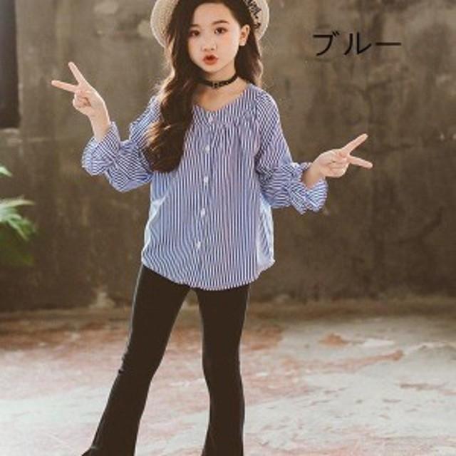 韓国子供服 女の子 2点セット 長袖 シャツ ロングパンツ キッズ レジャー 上下セットアップ 学生服 子供服 女の子 2点セット セットア